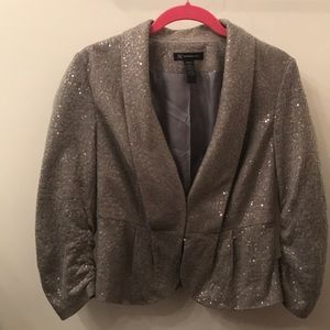 Cropped sequins blazer - Holiday Sparkle!